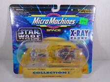 1995 MICRO MACHINES SPACE--STAR WARS XRAY FLEET--TIE FIGHTER & AWING STARFIGHTER