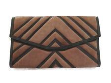 BNWT L.A.M.B Gwen Stefani Womens Leather Clutch Bag Purse Grey Brown
