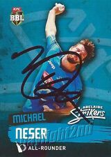✺Signed✺ 2015 2016 ADELAIDE STRIKERS Cricket Card MICHAEL NESER Big Bash League