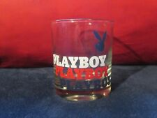 "Playboy Bunny Logo 4"" Whiskey Drinking Clear Glass"