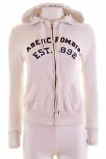ABERCROMBIE & FITCH Womens Hoodie Sweater Size 6 XS White Cotton  FP03