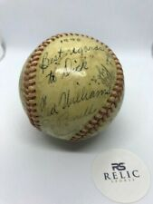 1946 vintage Red Sox team signed autograph ball Ted Williams Cronin Doerr +