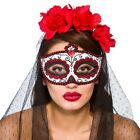 Day Of The Dead Eyemask Ladies Sugar Skull Fancy Dress Eye Mask