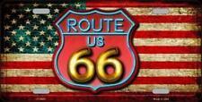 PLAQUE DE VOITURE AMERICAINE- ROUTE 66 - NEON -NEUVE  DECORATION USA/ BIKER