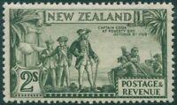 New Zealand 1935 SG568 2/- olive-green Captain Cook MNH