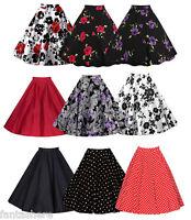 Vintage Retro 1950's Full Circle Rockabilly Jive Swing Skirt Party Mini Dress