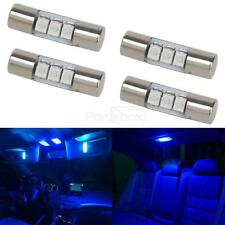 4pcs Blue 23mm Festoon Car Interior Mirror Lights Sun Visor Led Lamp 3 5050