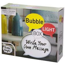 Set of 4 Bulk Lot Mini Bubble Light Box Message Board With Markers