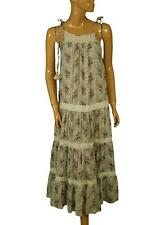 148893 New $148 Denim & Supply Ralph Lauren Mirage Printed Crochet Maxi Dress S