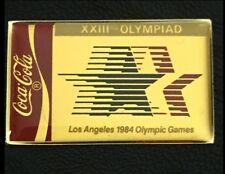 1984 Coca Cola Olympic Poster Pin Badge~Los Angeles~LA~1988 Coke~NEW Original