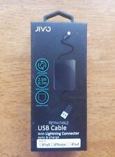 Jivo cable USB retráctil con conector lightning, sincronización y carga iPhone, iPad