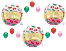 Cherries Cherry Pie Happy Birthday party Balloons Decorations Fruit Supplies