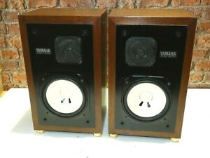Pair Of Yamaha NS-10M High Quality Vintage Hi Fi Use Bookshelf Loudspeakers