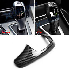 For Bmw F30 F20 F10 X3 X4 X5 X6 Carbon Fiber Pattern Gear Shift Knob Cover Trim (Fits: Bmw)