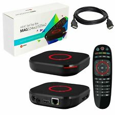 MAG 324 w2 Infomir HEVC H.265 IPTV Set Top TV Box with builtin WiFi Faster 254