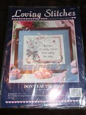 LOVING STITCHES Counted Cross Stitch Kit - DON'T EAT THE SOAP - Diana Prain