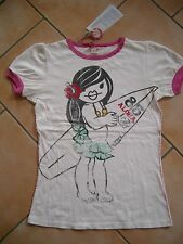 (c413) NOLITA POCKET Girls T-shirt LOOK VISSUTO CON GLITTER & Surf pressione gr.164