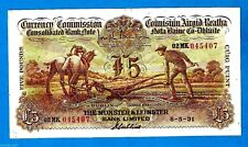Rare IRISH PLOUGHMAN £5 The Munster & Leinster Bank Ltd 8.5.1931 Very High Grade