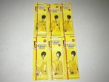 1/16 oz LAKER CRITTER (BEETLE) SPIN - YELLOW w/ BLACK DOT -  SIX (6)  NEW PACKS