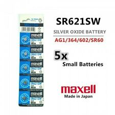 5 Piece SR621SW/364 Button Cell Silver Oxide Battery - Free Shipping