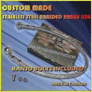 HONDA CMX250C CMX 250 REBEL CUSTOM STAINLESS STEEL BRAKE LINE HOSE