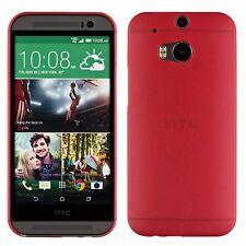 Yemota Pro Slim HTC One M8 Hard Slim Case Schutz Hülle Cover Bumper Tasche Rot