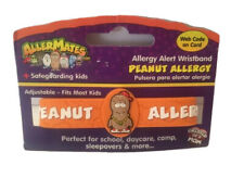 Kids Peanut Allergy Band Medical Alert ID Wristband Bracelet Latex Free
