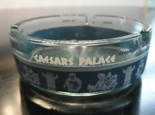 Vintage 1970's Caesar'S Palace Ashtray Blue Graphics Las Vegas Hotel Souvenir