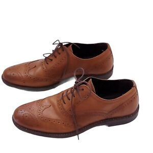 Red Tape Winston Men/'s Leather Brogue Formal Smart Dress Shoes Tan