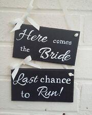 Wedding chalkboard signs plaques bride groom handpainted handmade
