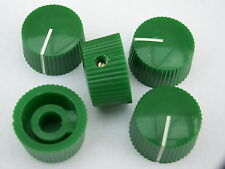 Perillas Potenciómetro 20mm Verde 5 Amplificador De Guitarra Perilla De Olla De Radio + Tornillo