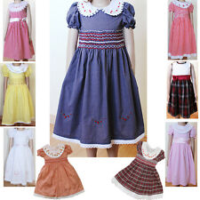 Flower Girl Princess Pageant Wedding Party Formal Kids Smocked Dress