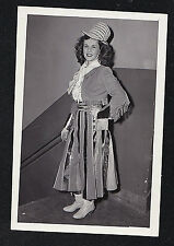 Vintage Antique Photograph Woman Wearing Strange Outfit - Halloweeen Costume?