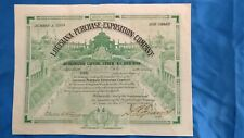 Stock Certificate Louisiana Purchase Exposition Company - One Share, issued1904