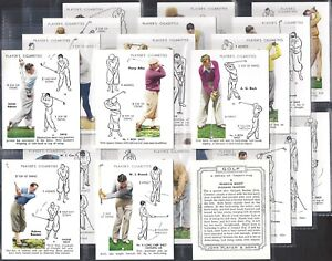 PLAYERS OVERSEAS-FULL SET- GOLF (L25 CARDS) - EXC+++