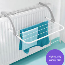 "19"" Over Radiator Airer Clothes Washing Drying Indoor Rack Adjustable Rail Dryer"