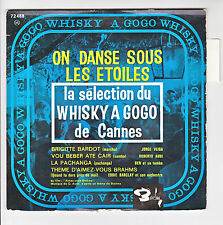 WHISKY A GOGO CANNES Disque 45T EP BRIGITTE BARDOT PACHANGA BEN BRAHMS Film RARE