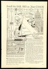 Canoe SAIL RIG 1934 How-To build PLANS Wooden