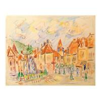 "Wayne Ensrud ""Nuits-Saint-Georges, Burgundy"" Hand Signed Original Art with COA"