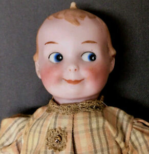 "Rare Googly 6.5"" Character GB 252 Armand Marseille George Borgfeldt Antique Doll"