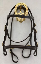 "MINI SHETLAND IN HAND SHOW BRIDLE WITH 48"" LEAD REIN"