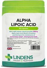 Alpha Lipoic Acid 250mg 90 Capsules Lindens Health + Nutrition (4555)