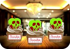 Poisonous Apple 12 Edible STANDUP Cake Topper Decoration Halloween Spooky