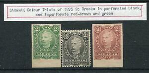 SARAWAK 1895 COLOUR TRIALS 2c BROOKE (3)
