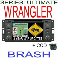 JEEP WRANGLER JK 2007-15 INC  GPS DVD NAVIGATION B/TOOTH STEERING +CAMERA STEREO