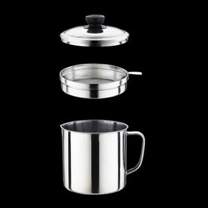 Steel 1.8L Oil Strainer Pot Container Jug Storage Can + filter Cooking Oil Pot