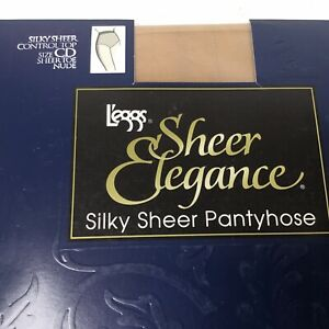 Leggs Sheer Elegance Control Top Pantyhose Hosiery With Spandex Color: Nude