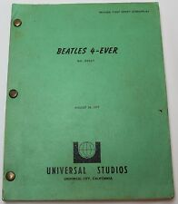 I Wanna Hold Your Hand  * 1977 Beatles Movie Script * Bob Gale & Robert Zemeckis