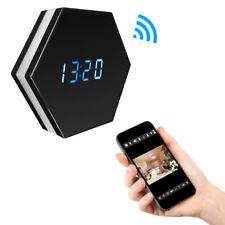 Sans fil WiFi espion caché horloge vision nocturne caméra Motion hexagone en forme de Covert