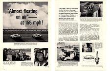 1961 PONTIAC CATALINA - FIREBALL ROBERTS / JUNIOR JOHNSON ~ 2-PAGE CHAMPION AD